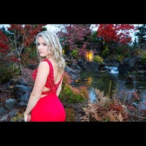 Sherri Hill Red Formal Dress